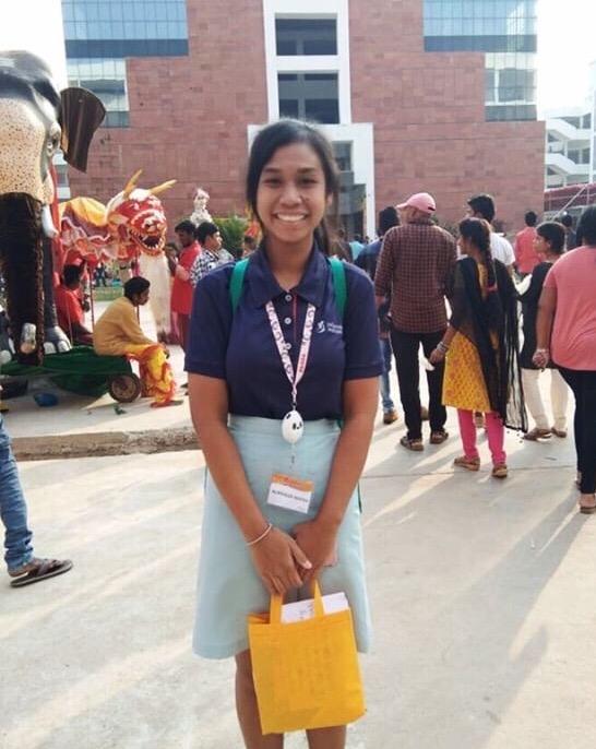 Nursyaza Nadya in India for a Millennia Institute trip