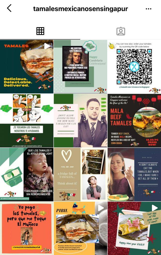 Tamales Mexicanos en Singapur IG Page