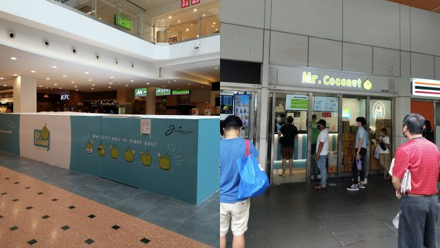 Mr. Coconut's first concept store at Jurong Point is a 5-minute walk away from its other outlet at Boon Lay MRT Station that also opened this year. Photo Credit: Adiel Rusyaidi Ruslani